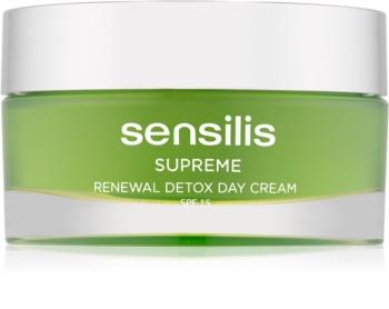 Sensilis Supreme Renewal Detox Detoxifying and Regenerating Day Cream SPF 15