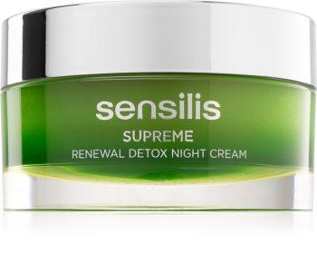 Sensilis Supreme Renewal Detox detoksujący krem na noc regenerująca i odnawiająca skórę