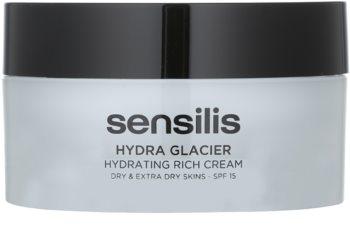 Sensilis Hydra Glacier crema idratante e nutriente SPF 15