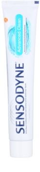 Sensodyne Advanced Clean dentífrico com flúor para proteção completa de dentes