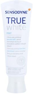 Sensodyne True White Mint Pasta de branqueamento para manchas no esmalte para dentes sensíveis