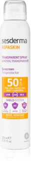 Sesderma Repaskin транспарентен слънцезащитен спрей SPF 50+