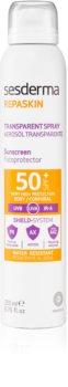 Sesderma Repaskin transparentní sprej na opalování SPF 50+