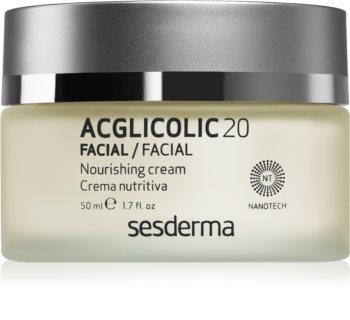 Sesderma Acglicolic 20 Facial Närande föryngrande kräm för torr och mycket torr hud