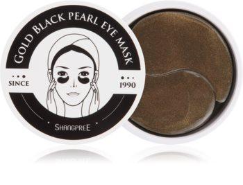 Shangpree Gold Black Pearl hydrogelová maska na oční okolí s protivráskovým účinkem