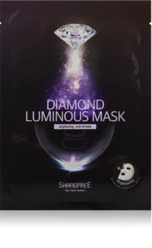 Shangpree Diamond maschera viso illuminante in tessuto antirughe