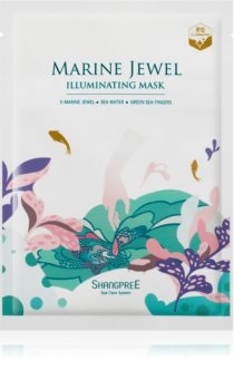 Shangpree Marine Jewel maschera viso illuminante in tessuto