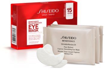 Shiseido Benefiance WrinkleResist24 Pure Retinol  Express Smoothing Eye Mask szem maszk retinollal