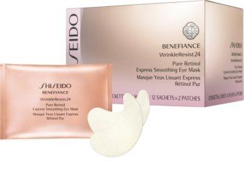 Shiseido Benefiance WrinkleResist24 Pure Retinol  Express Smoothing Eye Mask máscara para contornos de olhos com retinol
