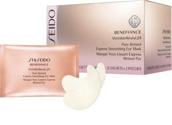 Shiseido Benefiance WrinkleResist24 Pure Retinol  Express Smoothing Eye Mask maska na oči s retinolem