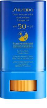 Shiseido Sun Care Clear Stick UV Protector WetForce soin local anti-soleil