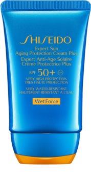 Shiseido Sun Care Expert Sun Aging Protection Cream WetForce Sonnencreme fürs Gesicht SPF 50+