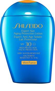 Shiseido Sun Care Expert Sun Aging Protection Lotion WetForce Zonnebrandmelk voor Gezicht en Lichaam  SPF 30