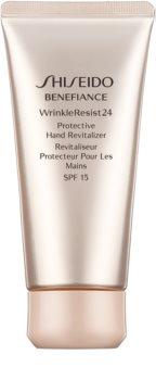 Shiseido Benefiance WrinkleResist24 Protective Hand Revitalizer crema rigenerante e protettiva per le mani SPF 15