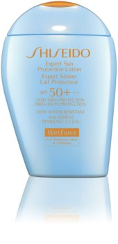 Shiseido Sun Care Expert Sun Protection Lotion WetForce Sonnenschutz-Emulsion für besonders empfindliche Haut SPF 50+