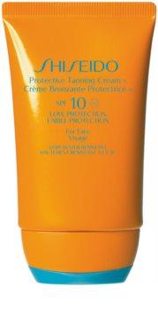 Shiseido Sun Care Protective Tanning Cream opaľovací krém na tvár SPF 10