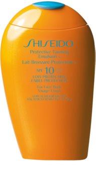 Shiseido Sun Care Protective Tanning Emulsion Intensiv pflegende Sonnenschutz-Lotion SPF 10