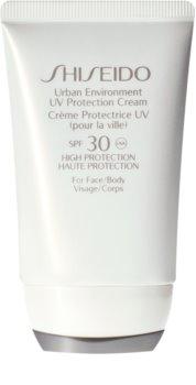 Shiseido Sun Care Urban Environment UV Protection Cream védő krém arcra és testre SPF 30
