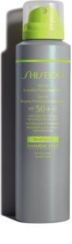 Shiseido Sun Care Sports Invisible Protective Mist opaľovacia hmla v spreji SPF 50+