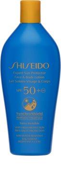 Shiseido Sun Care Expert Sun Protector Face & Body Lotion védő ápolás a káros napsugarakkal szemben