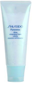 Shiseido Pureness espuma cremosa para una limpieza profunda con microgránulos