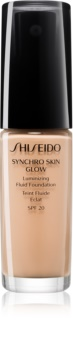Shiseido Synchro Skin Glow Luminizing Fluid Foundation озаряващ фон дьо тен SPF 20