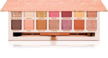 Sigma Beauty Cor-de-Rosa paleta de sombras  com pincel