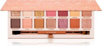 Sigma Beauty Cor-de-Rosa palette de fards à paupières avec pinceau