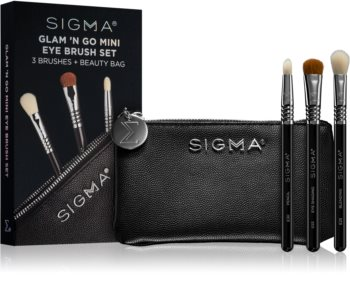 Sigma Beauty Glam N Go brush set with pouch