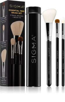 Sigma Beauty Essential Trio Brush Set sada štětců s pouzdrem II.
