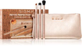Sigma Beauty Rendezvous Petite Perfection Brush Set Kit de pinceaux avec pochette