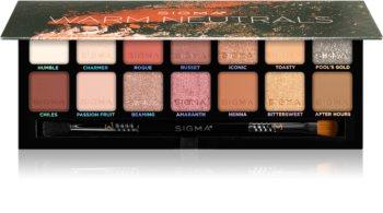 Sigma Beauty Warm Neutrals Eyeshadow Palette paleta očních stínů