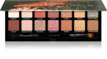 Sigma Beauty Warm Neutrals Eyeshadow Palette paleta senčil za oči