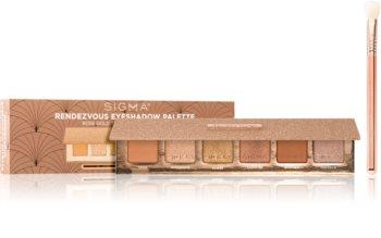 Sigma Beauty Rendezvous Eyeshadow Palette palette de fards à paupières (avec pinceau)