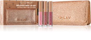 Sigma Beauty Rendezvous Beloved Mini Lip Set sada lesků na rty (se třpytkami)