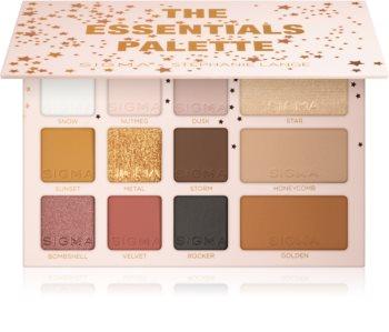 Sigma Beauty The Essentials Palette палитра от сенки за очи с бронзър