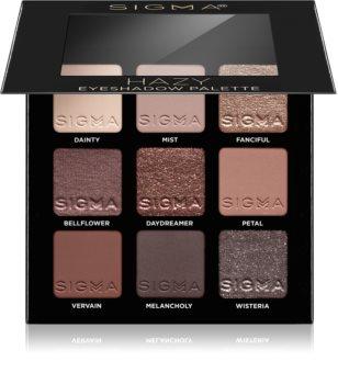 Sigma Beauty Eyeshadow Palette Hazy палитра сенки за очи