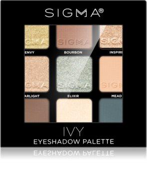 Sigma Beauty Eyeshadow Palette Ivy paleta cieni do powiek