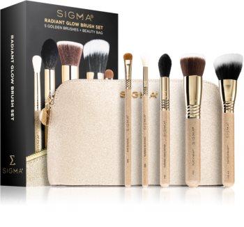Sigma Beauty Radiant Glow Brush Set pochette de voyage avec pinceaux