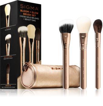 Sigma Beauty Bloom + Glow Brush Set sada štětců s pouzdrem