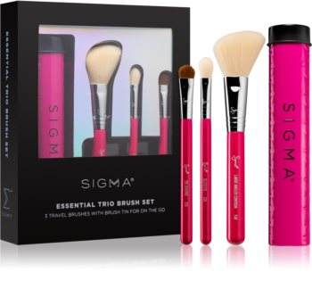 Sigma Beauty Essential Trio Brush Set kit de pinceaux avec étui