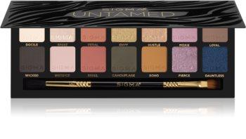 Sigma Beauty Untamed paleta cieni do powiek z lusterkiem i aplikatorem