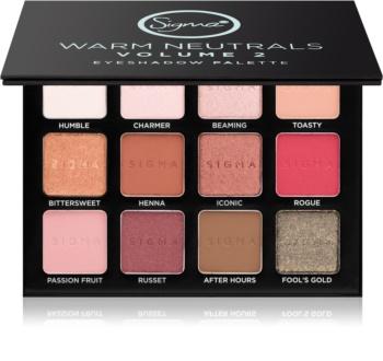 Sigma Beauty Warm Neutrals Volume 2 paleta farduri de ochi