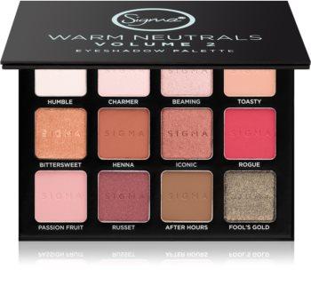 Sigma Beauty Warm Neutrals Volume 2 paleta očních stínů