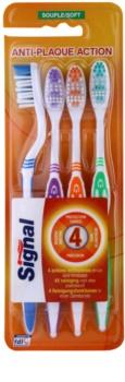 Signal Anti-Plaque Action Mjuka tandborstar