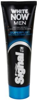 Signal White Now Men Super Pure зубная паста для мужчин с отбеливающим эффектом