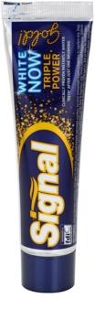 Signal White Now Triple Power Gold pastă de dinți cu efect de albire