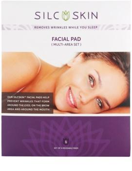 SilcSkin Facial Pad almofadinha de silicone contra rugas nas zonas de testa, olhos e boca