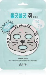 Skin79 Animal For Mouse With Blemishes платнена маска за проблемна кожа, акне