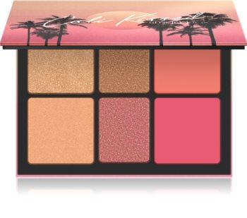 Smashbox Cali Highlight & Blush Palette Multifunctionele Palette  voor het Gezicht